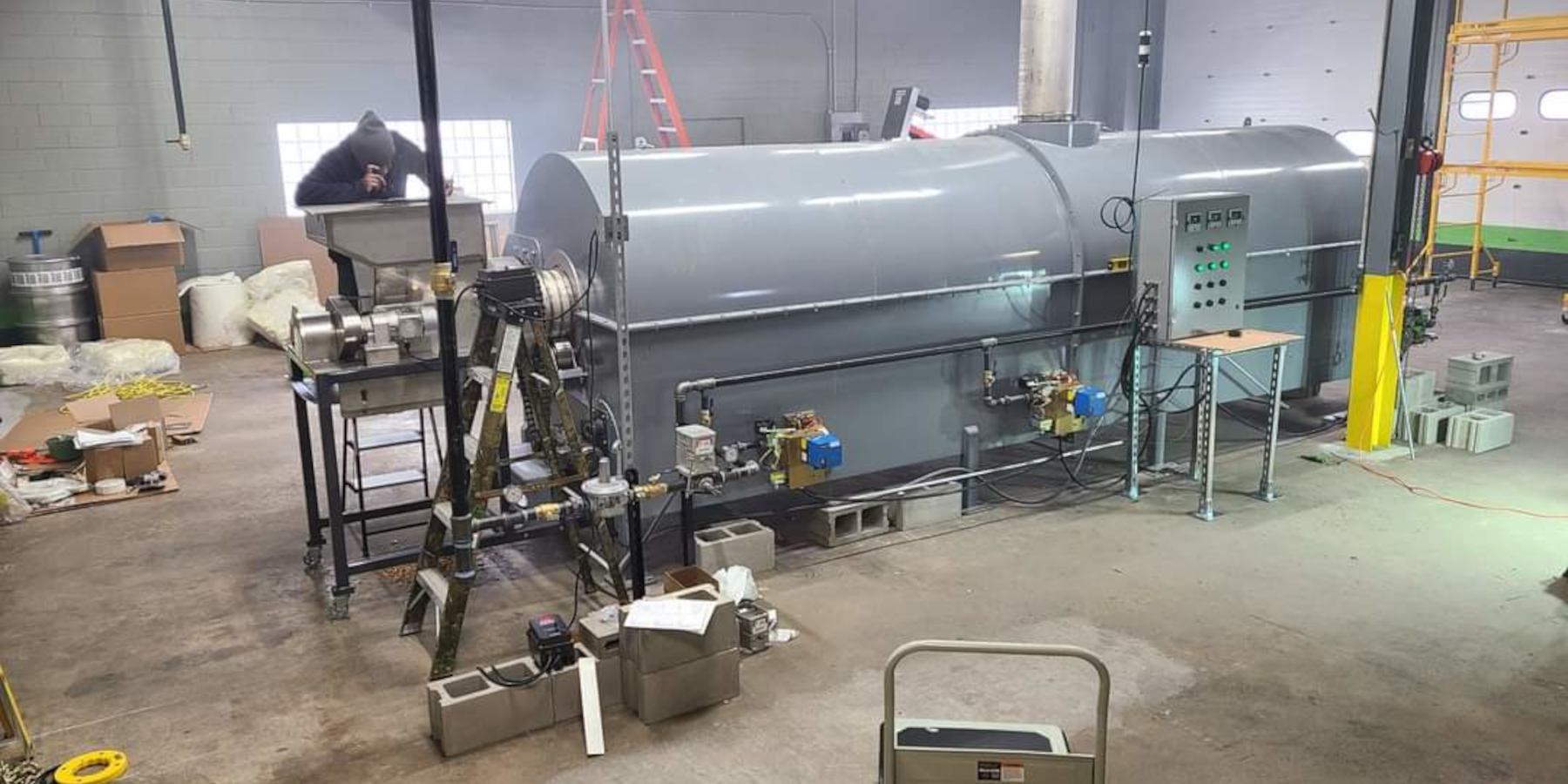 HiTemp Indirect Fired Rotary Kiln Installation