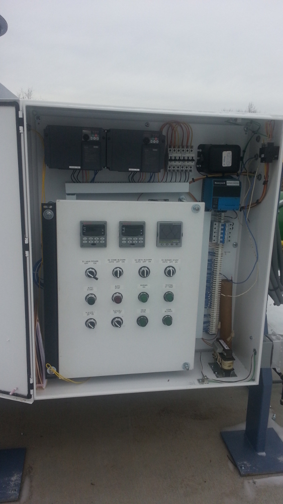 HiTemp enclosed flare system control panel