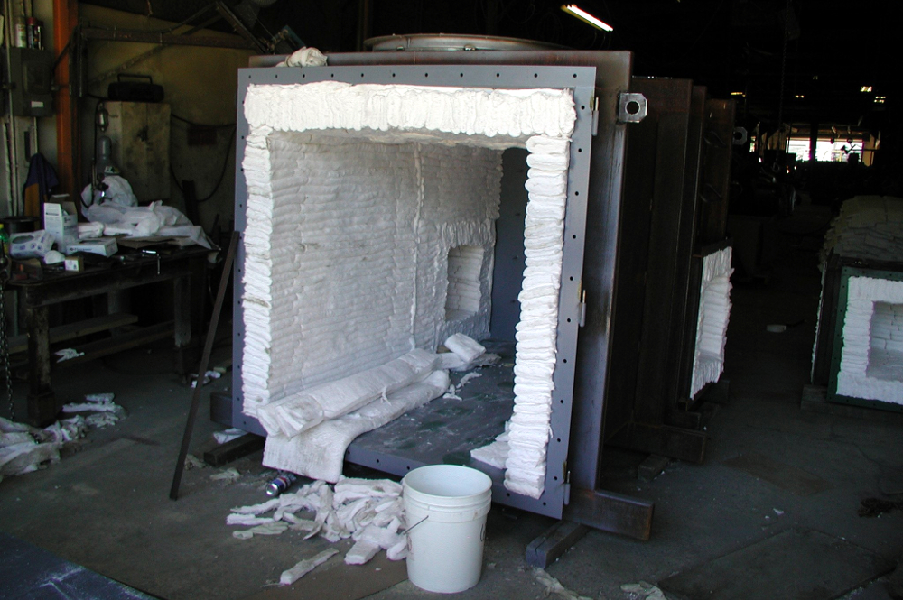 dual-hearth process furnace refractory installation