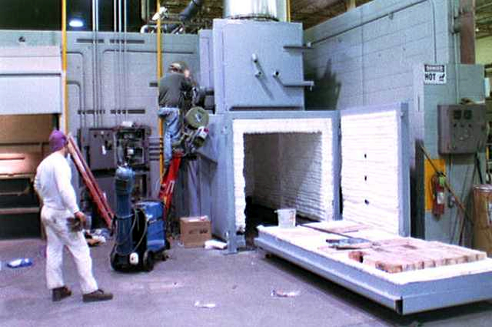 single-hearth, sliding proces furnace installation