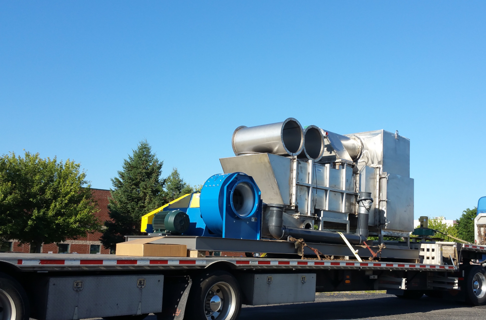 HiTemp Modular 10,000 CFM Recuperative Catalytic Oxidizer on Flatbed Truck