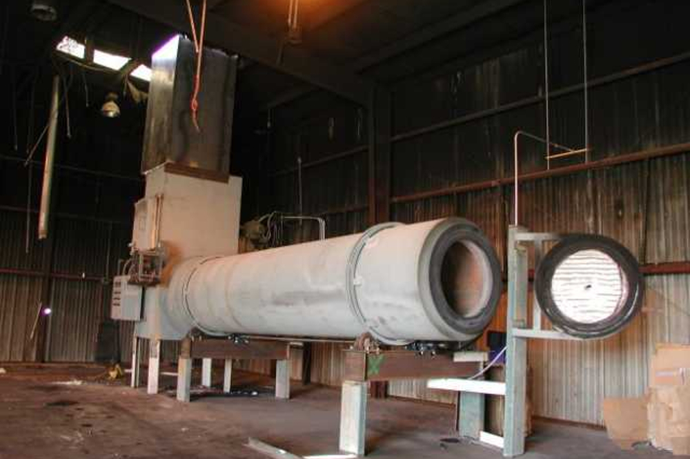 rotary kiln mounted on frame