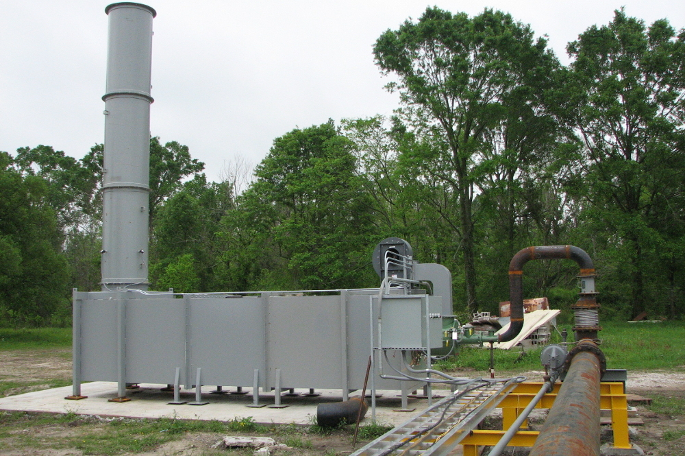 thermal oxidizer with optional equipment