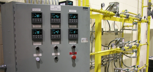 Thermal Oxidizer Control Panel Installation
