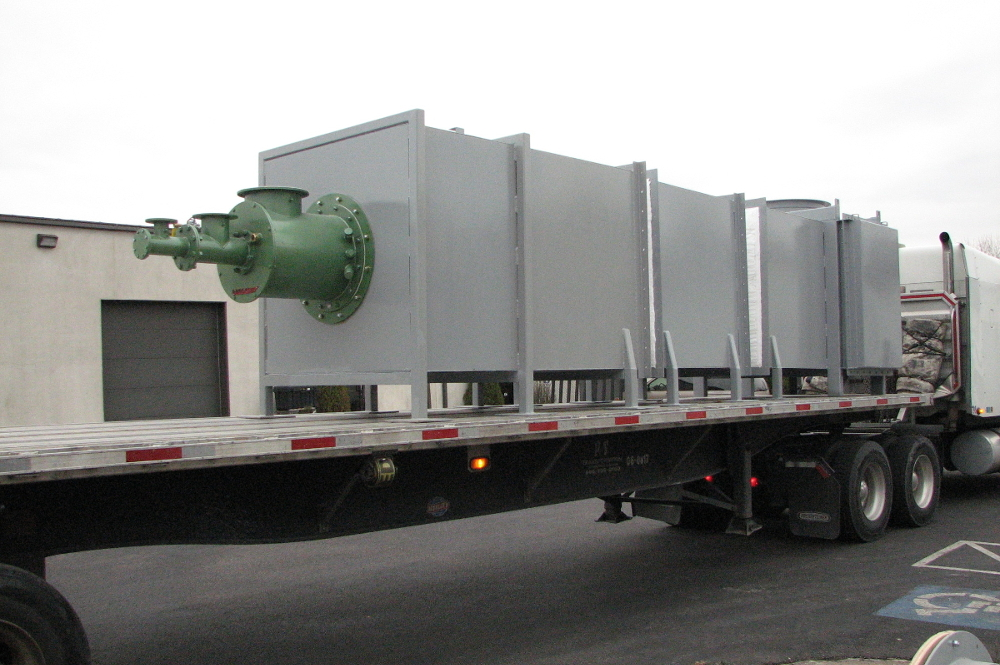 thermal oxidizer modular design for easy shipping