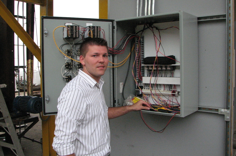 Chris Parker wiring thermal oxidizer control panel