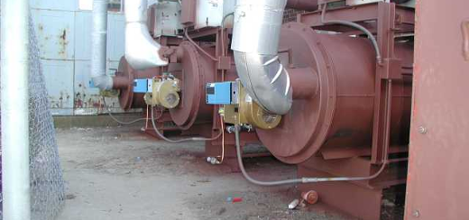 Multiple Thermal Oxidizer Installation